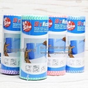 Khăn lau đa năng Sito - Cuộn 50 khăn