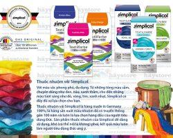 Màu nhuộm vải Simplicol
