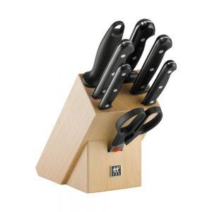 Bộ dao Zwilling TWIN® Chef với 7 dao và block đựng