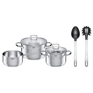 Bộ nồi từ Mirano của Silit với các dụng cụ nấu ăn kèm theo