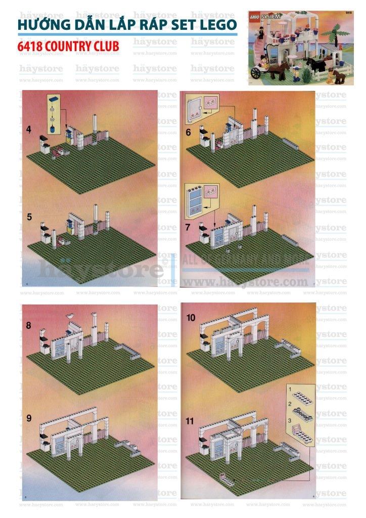 Hướng dẫn lắp Set Lego 6418
