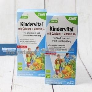 Dung dịch hữu cơ Kindervital - Bổ sung Canxi và Vitamin C,D - SALUS