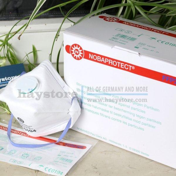 Mặt nạ bụi mịn NOBAPROTECT® với bảo vệ FFP2 kèm van thở